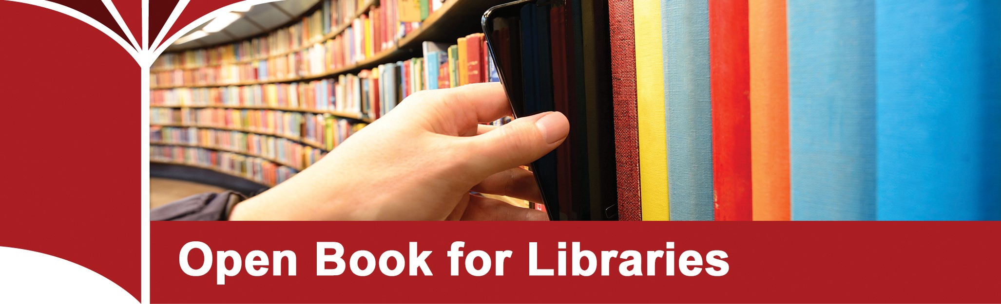 Open Book for libraries logo