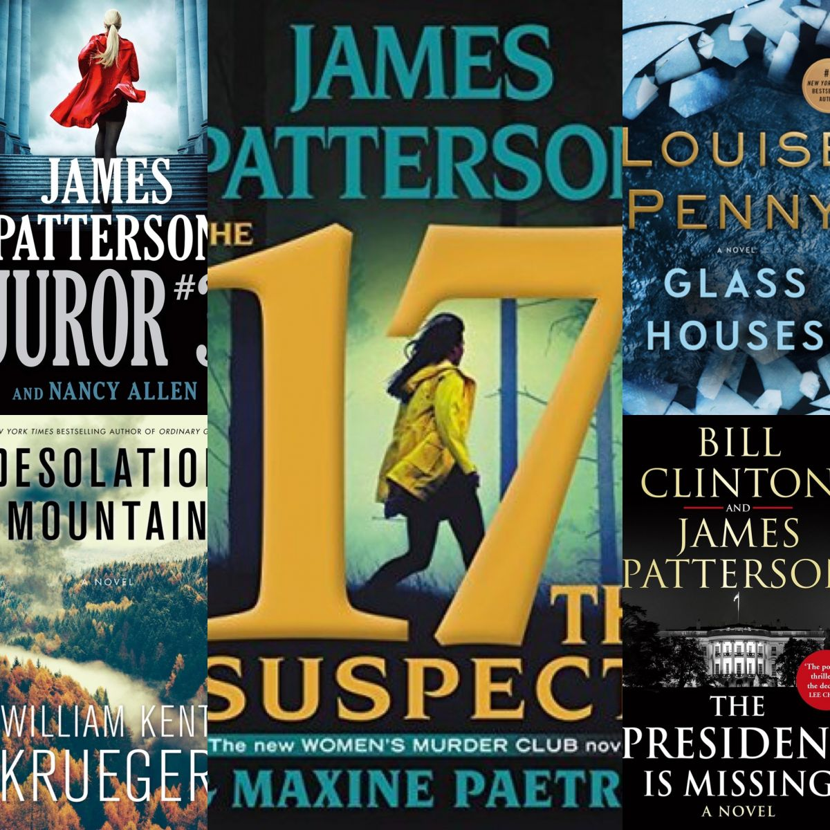Top five books collage