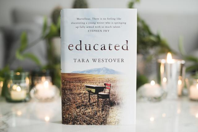 Picture of Educated book cover with lights in background