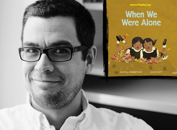 Book cover of When we were alone and photo of author