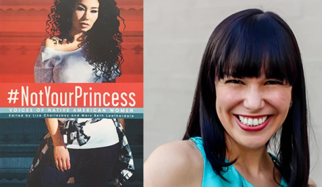 Book cover of #NotYourPrincess with photo of author
