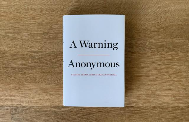 Book cover of A warning