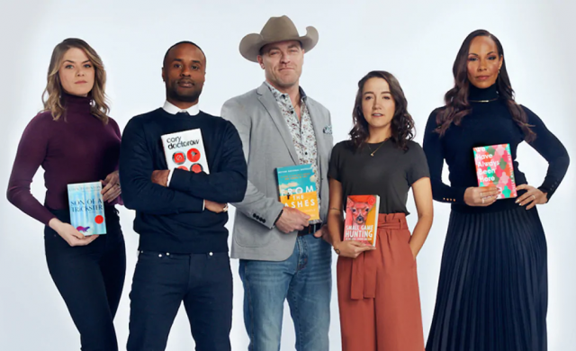 2020 Canada Reads defenders holding copies of their books