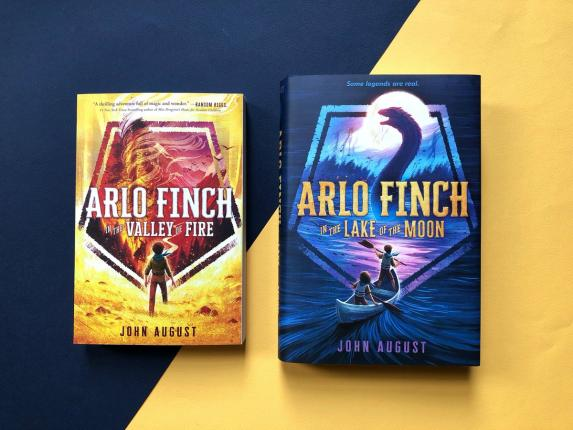 Book cover of Arlo Finch series