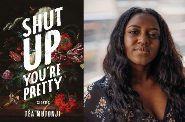 Book cover of Shut up you're pretty with photo of author