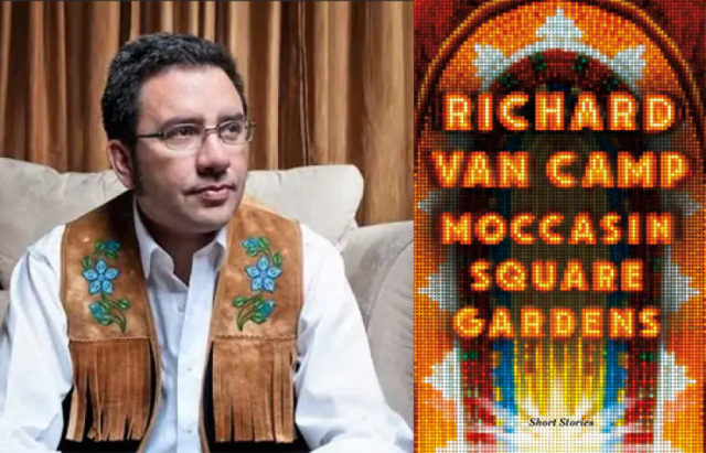 Book cover of Moccasin Square Gardens and photo of author
