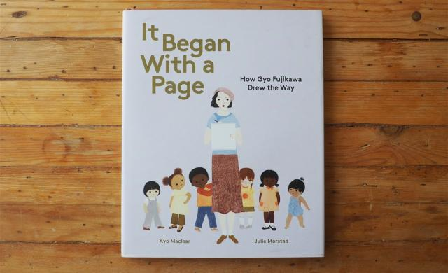 Book cover of It began with a page