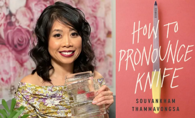 Photo of Souvankham Thammavongsa and book cover of How to pronounce knife
