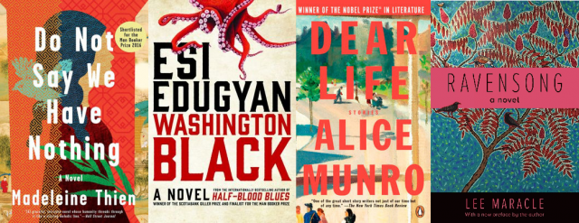 Canadian novels - Do not save we have nothing, Washington Black, Dear Life and Ravensong