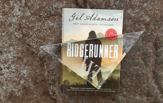Book cover for Ridgerunner with Writers Trust award