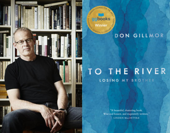 Book cover of To the river and photograph of author