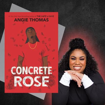 Book cover of Concrete Rose with photo of author