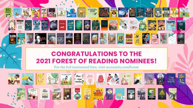Forest of Reading 2021 nominees