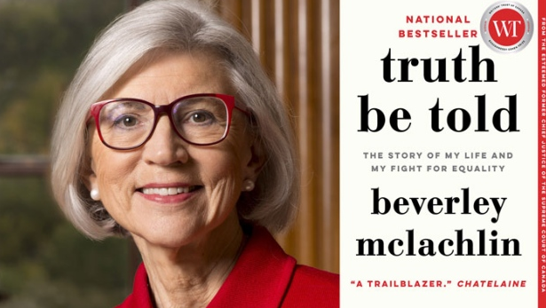 Book cover of Truth be told with photo of author Beverley McLachlin